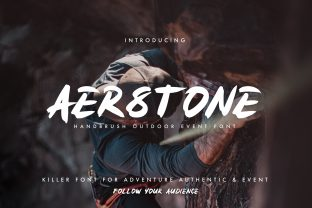 Print on Demand: Aerstone Display Font By neature.works