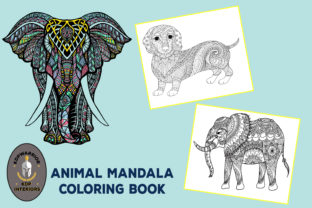 Animal Mandala Coloring Book KDP 60pages Graphic Coloring Pages & Books Adults By KDP-WARRIOR