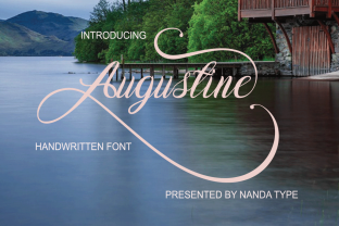 Print on Demand: Augustine Script & Handwritten Font By Nandatype