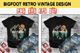 Print on Demand: Bigfoot Flag America Retro Vintage Svg Graphic Illustrations By lilylol