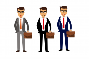 Boss in Suit Graphic Illustrations By tunasbangsa.project