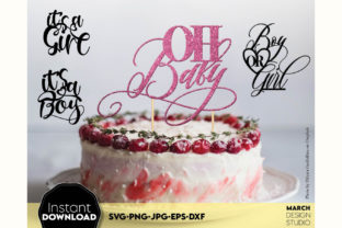 Cake Topper Bundle Happy Birthday Cake Graphic Crafts By March Design Studio