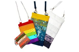 Calico Cross Body Zipper Bag - in the Hoop Accessorios Diseños de bordado Por Sookie Sews