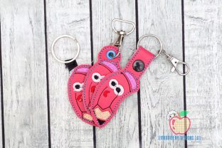 Cartoon Pencil in the Hoop Keyfob School & Education Embroidery Design By embroiderydesigns101