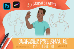 Character Pose Brush Kit- Male Edition Graphic Brushes By Brushed Rose