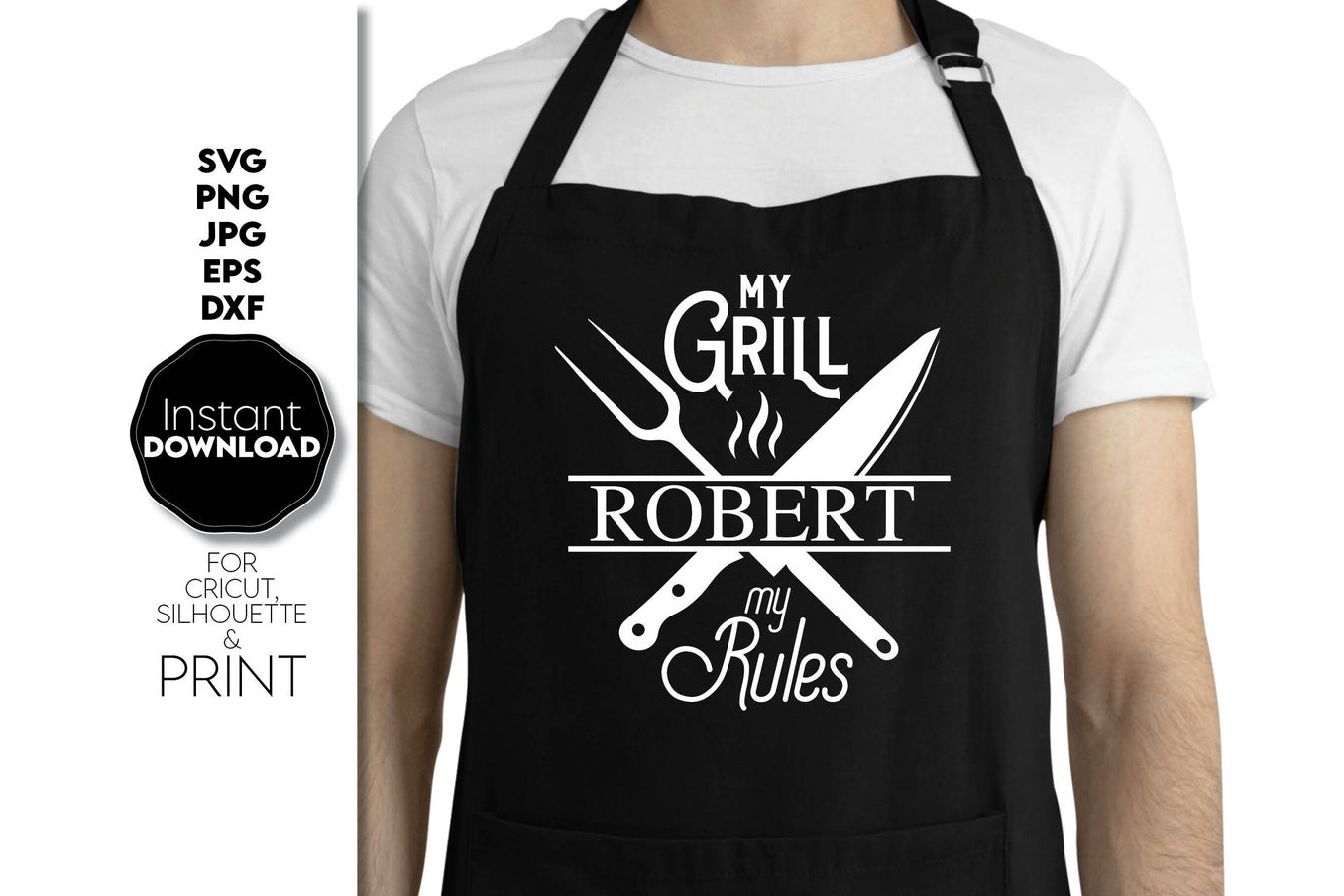 Custom Grill Master Gift for Father SVG File
