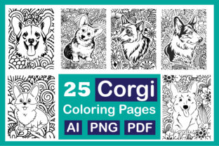 Print on Demand: Cute Corgi Dog Coloring Pages Graphic Coloring Pages & Books Kids By Different Design