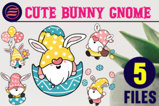 Print on Demand: Cute Easter Bunny Gnome Clipart Graphic Illustrations By Erabza