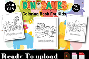 Dinosaur Coloring Book Vol 9 Graphic Coloring Pages & Books Kids By stilllearners989