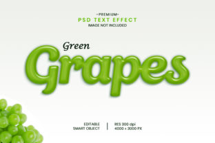 Editable Grapes Fruit 3D Text Effect Graphic Graphic Templates By Effectmaster