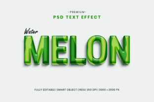 Editable Watermelon Fruit 3D Text Effect Graphic Graphic Templates By Effectmaster
