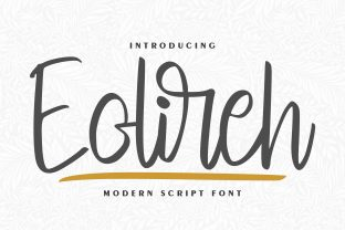 Print on Demand: Eolireh Script & Handwritten Font By Vunira
