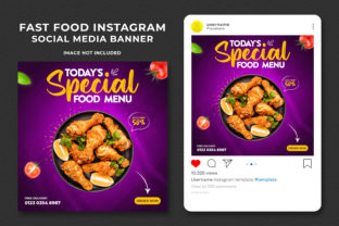 Fast Food Social Media Banner Post Graphic Web Elements By Effectmaster