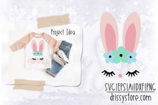 Floral Bunny Face Graphic Illustrations By DrissyStore