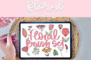 Print on Demand: Floral Procreate Brush Stamp Set Graphic Brushes By Fairways and Chalkboards