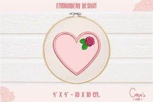 Heart Applique Valentine's Day Embroidery Design By carasembor