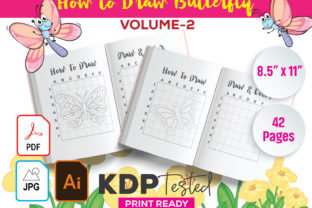 How to Draw Butterfly & Coloring Graphic KDP Interiors By GraphicTech360