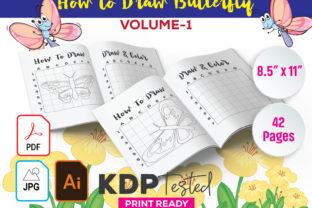 How to Draw Butterfly Graphic KDP Interiors By GraphicTech360
