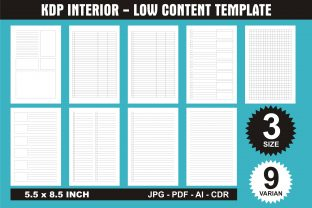 Print on Demand: KDP Interior Low Content Template Graphic KDP Interiors By edywiyonopp
