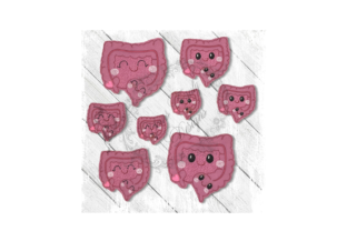 Kawaii Organ Intestines Accessories Embroidery Design By Yours Truly Designs