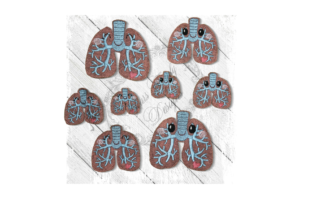 Kawaii Organ Lungs Accessories Embroidery Design By Yours Truly Designs