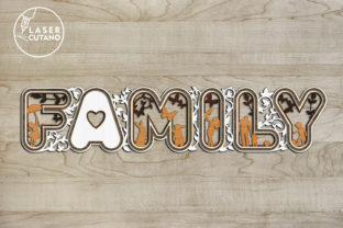 Print on Demand: Laser Cut Words - FAMILY Graphic Crafts By LaserCutano 2