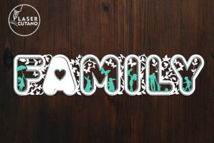 Print on Demand: Laser Cut Words - FAMILY Graphic Crafts By LaserCutano 3