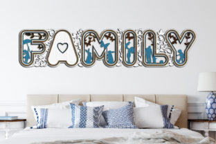 Print on Demand: Laser Cut Words - FAMILY Graphic Crafts By LaserCutano 7