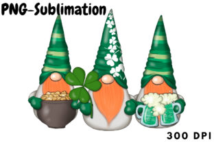 March Gnomes Sublimation Png St.Patricks Graphic Crafts By Tanya Kart