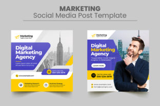 Marketing Social Media Post Banner Graphic Web Elements By Design_Stocks