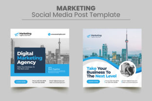 Marketing Social Media Post Template Graphic Web Elements By Design_Stocks