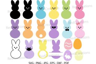 Marshmallow Bunnies Svg,  Bunny Peeps Graphic Crafts By RedCreations