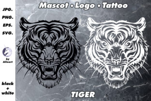 Mascot and Logo Angry Tiger Illustration Graphic Illustrations By Alinart