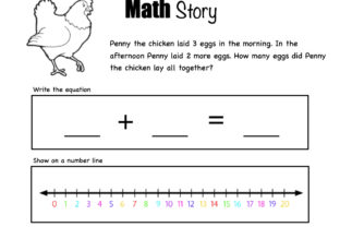 Math Stories! Graphic 1st grade By Lory's Kindergarten Resources!