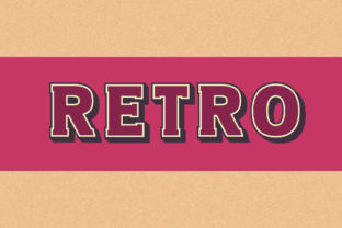 Print on Demand: Retro Color Fonts Font By Vladimir Carrer