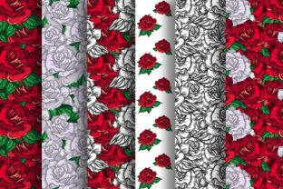 Print on Demand: Romantic Roses Patterns Graphic Illustrations By barsrsind