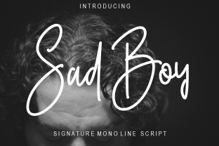 Print on Demand: Sad Boy Script & Handwritten Font By RasdiType