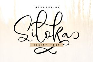 Print on Demand: Siloka Script & Handwritten Font By Vunira
