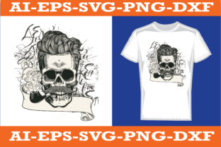 Skull T-shirt Design Graphic Print Templates By sujonrana788