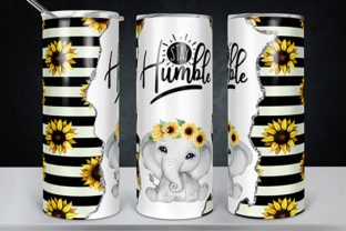 Stay Humble Sunflowers Tumbler Design Graphic Print Templates By lavalie