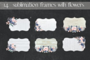 Sublimation White Wood with Flowers Graphic Illustrations By Aneta Design