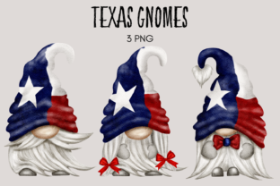 Print on Demand: Texas Patriotic Gnomes Graphic Illustrations By Celebrately Graphics