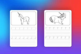 Print on Demand: Unicorn Letter Tracing - KDP Interior Graphic Coloring Pages & Books Kids By Riduwan Molla 3