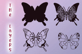 Print on Demand: 3D Zentangle Butterfly Graphic 3D SVG By tatiana.cociorva 4