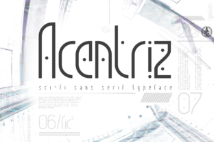 Print on Demand: Acentriz Display Font By typealiens