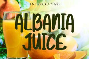 Print on Demand: Albania Juice Script & Handwritten Font By Letterpen
