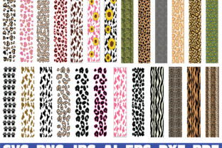Print on Demand: Animal Print Glitter Pen Wraps Grafik Grafik-Templates von Sofiamastery