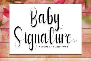 Print on Demand: Baby Signature Script & Handwritten Font By Inermedia STUDIO