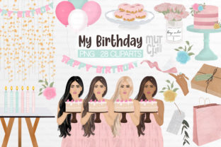 Print on Demand: Birthday Party Clipart Set Graphic Illustrations By MutchiDesign