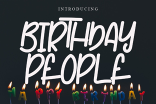 Print on Demand: Birthday People Script & Handwritten Font By Letterpen